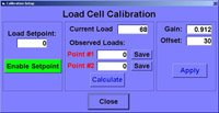 Control Systems - Independent Test Services - calibrationscreen